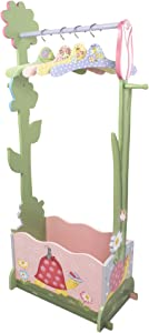 Fantasy Fields - Magic Garden Thematic Wooden Dress Up Storage Station with Set of 4 Hangers | Imagination Inspiring Hand Crafted & Hand Painted Details Non-Toxic, Lead Free Water-based Paint