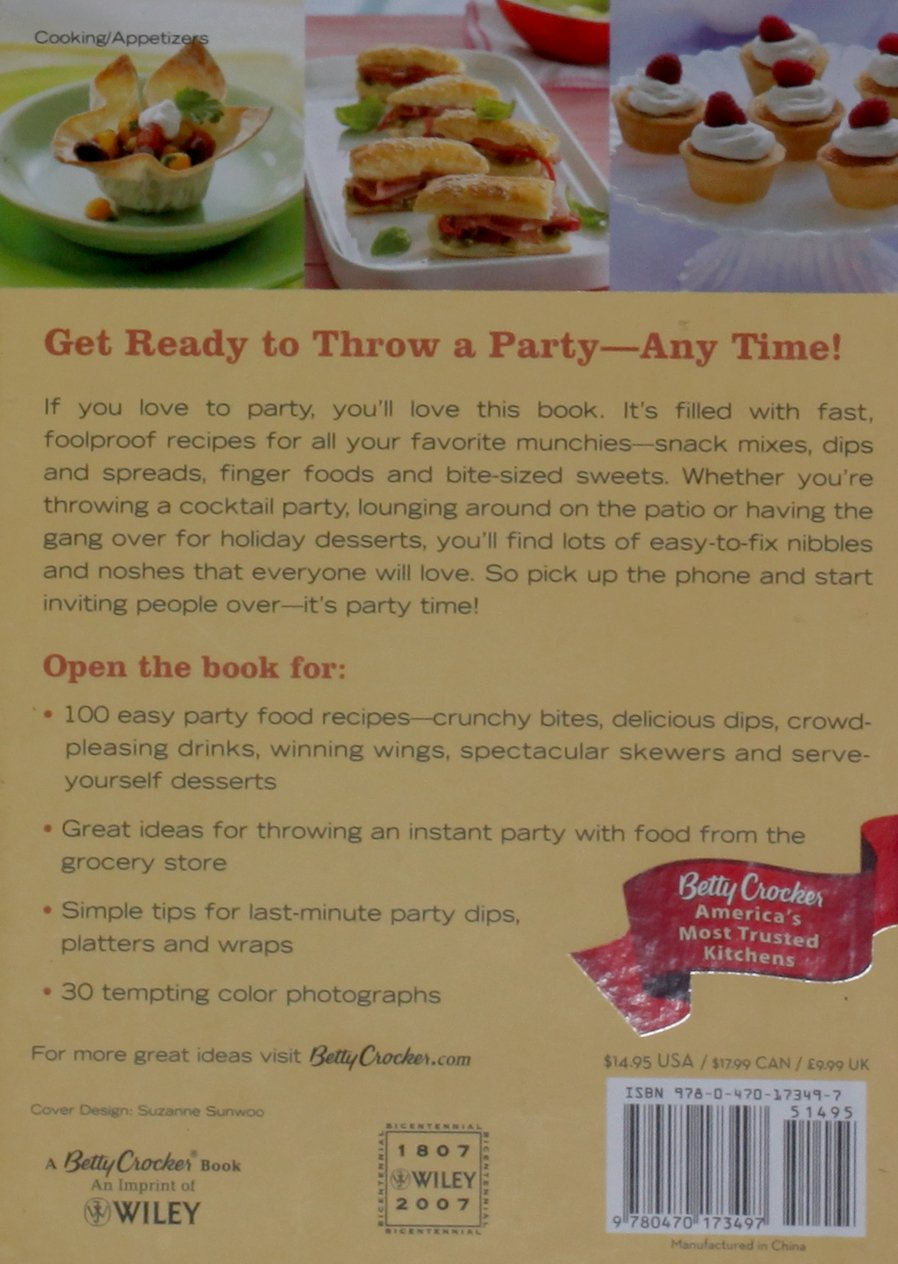 Betty crocker party food 100 recipes for the way you really cook betty crocker party food 100 recipes for the way you really cook betty crocker editors 9780470173497 amazon books forumfinder Images