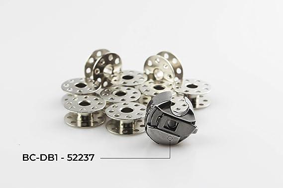 La Canilla ® - Canillero Caja Bobina Porta Canillas para Máquinas de Coser Industriales Alfa, Juki, Singer, Brother REF. 52237 (BC-DB1NBL) Con Freno: Amazon.es: Hogar