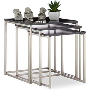 Tavolini Da Salotto Impilabili.Amazon It Tavolini Sovrapponibili Per Soggiorno