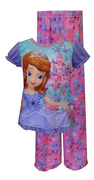 b4b6ea7b0f Webundies Disney Sofia The First Castles And Crowns Toddler Pyjama For  Little Girls (2T)