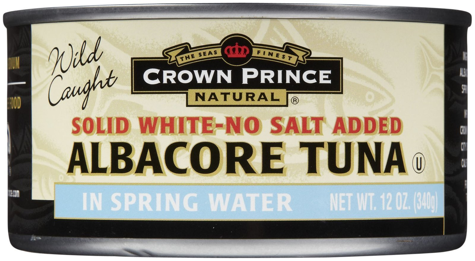 Crown Prince Albacore Tuna, In Water, No Salt, 12 oz