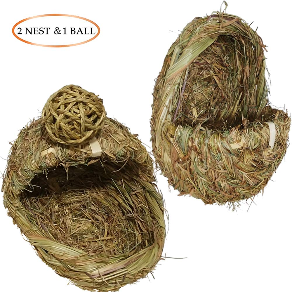 Pet Hut Eco-Friendly Couch,Rabbit Cat Bird Parakeet Macaw Parrot Snake Hedgehog Cockatiel Grass Nest,Handcrafted Natural Chew Toy,House Habitat Bedding Décor for Hamsters,Chinchillas,Guinea Pigs,Rats
