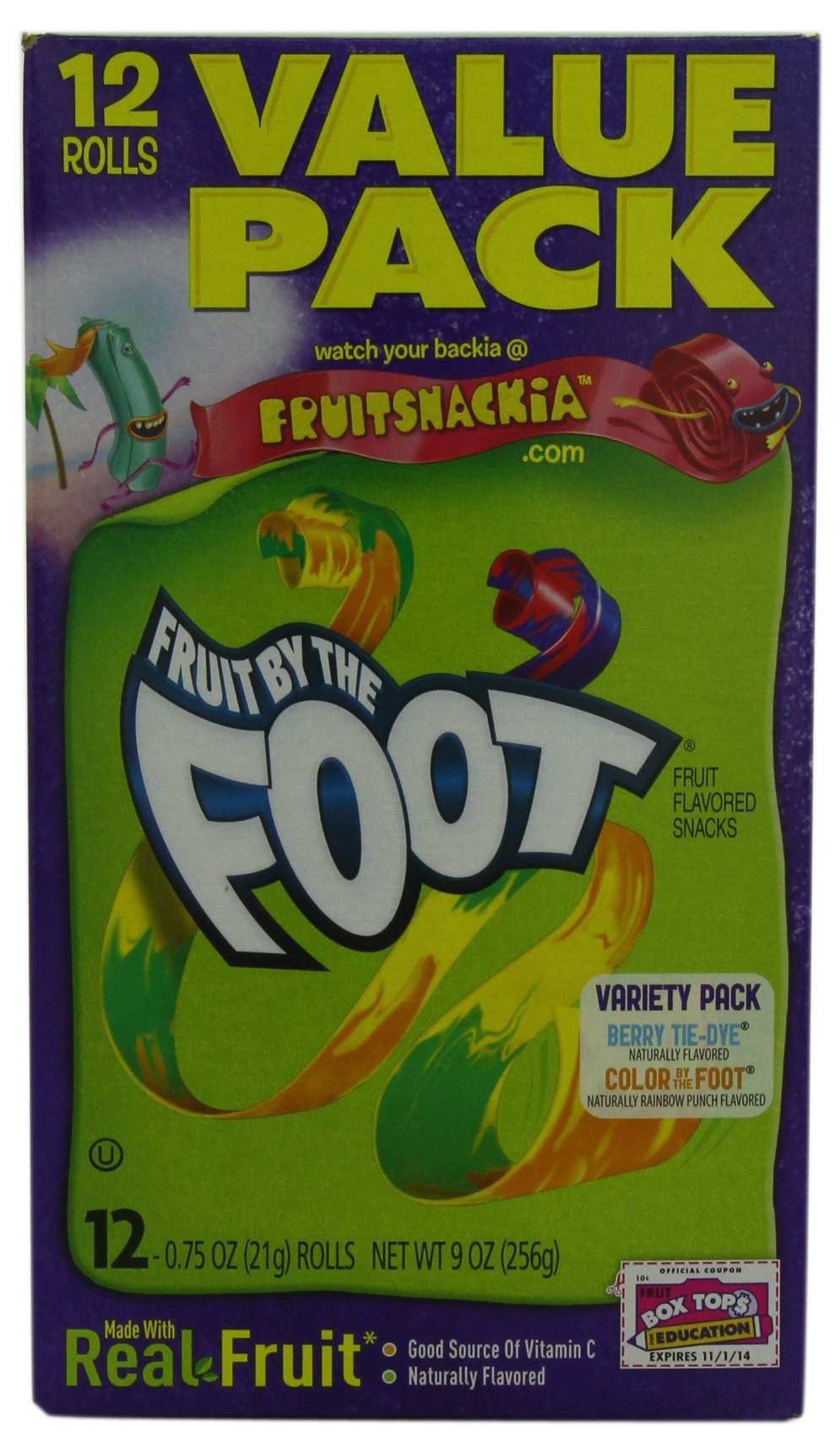 Betty Crocker Fruit Snacks, Fruit by the Foot, Variety Snack Pack, 12 Rolls, 0.75 oz Each (Pack of 6) by Fruit by the Foot (Image #1)