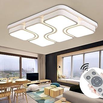 MYHOO 78W Modern Design LED Deckenlampe Dimmbar Mit Fernbedienung LED Deckenleuchte  Wohnzimmer Lampe Schlafzimmer Küche Leuchte [Energieklasse A++]: ...