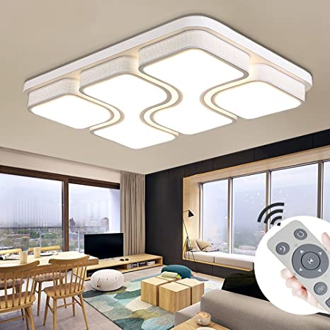 MYHOO 78W LED Regulable Luz de techo Diseño de moda moderna plafón,Lámpara de Bajo Consumo Techo para Dormitorio,Cocina,oficina,Lámpara de sala de ...