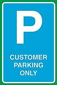 Customer Parking Only Print Parking Car Lot Business Office School Street Road Sign Aluminum Metal