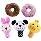HTKJ Squeaky Dog Toys for Small Dogs, Fruits and Vegetables Small Animals Plush Puppy Dog Toys