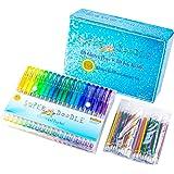 Super Doodle 160 Glitter Gel Pen Coloring Set- Includes 80 Unique Color Glitter Gel Pens and 80 Matching Refills- Artist Qual