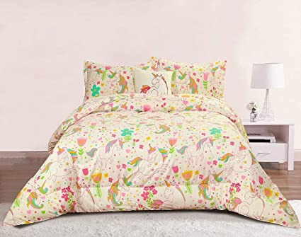 778e85c2e3f92 Image Unavailable. Image not available for. Color  Unicorn Girls Bedding ...