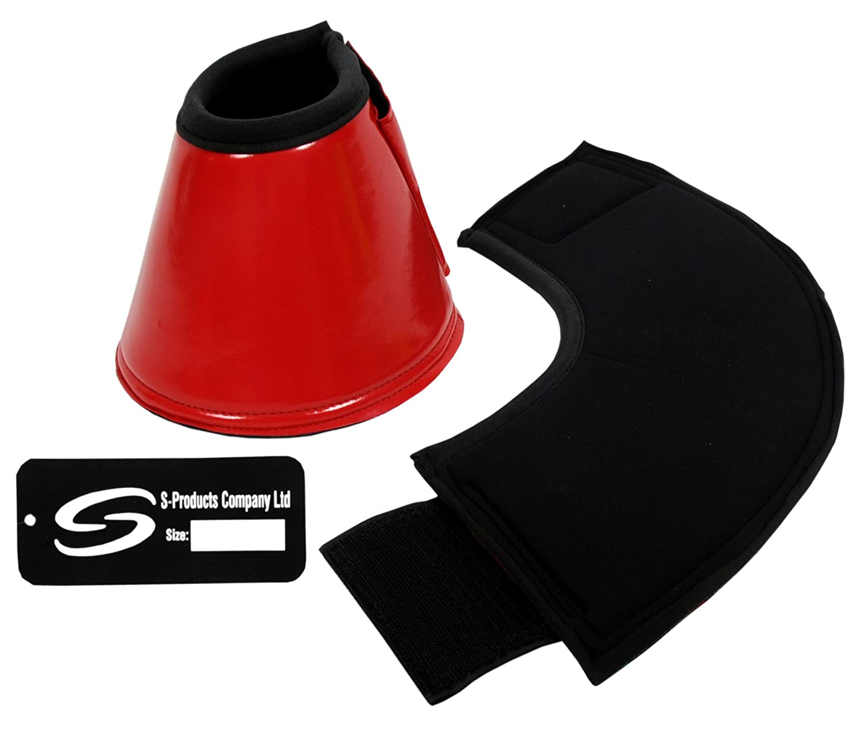 Paire de cloches de protection douce en néoprène pour chevaux S-Products Company Ltd