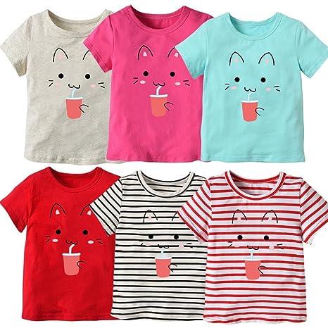 Covermason Niños Ropa Venta de liquidación Niños pequeños Bebés y niñas Camiseta de manga corta de