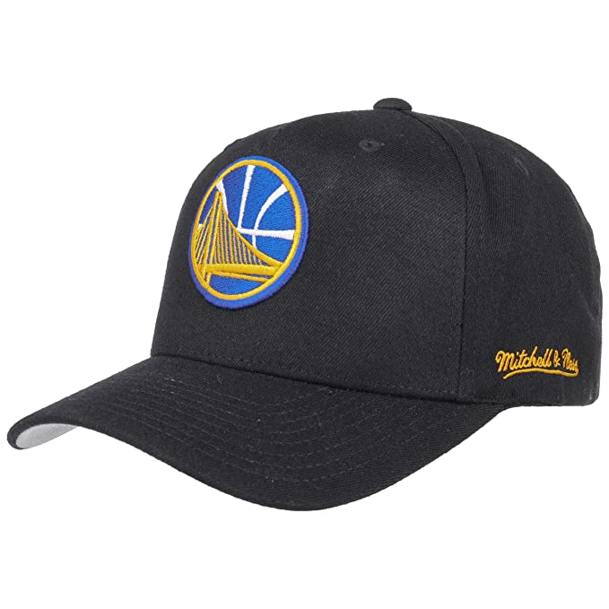 factory authentic 0a7a5 b603b Image Unavailable. Image not available for. Color  Mitchell   Ness Golden  State Warriors INTL132 110 Curved Eazy NBA Flexfit Snapback ...