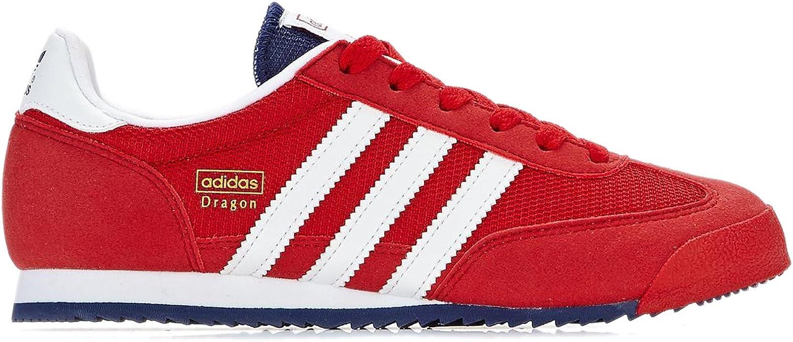 Pero musical Partido  Adidas Dragon J Red White Youths Trainers Size 37 1/3 EU: Amazon.de: Schuhe  & Handtaschen