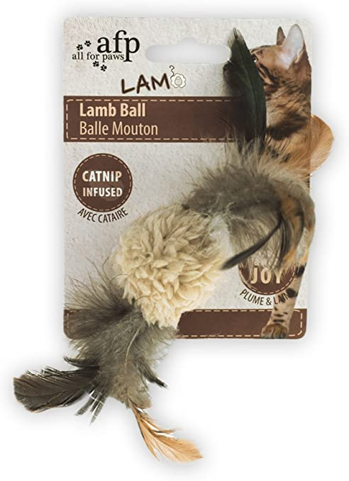 Cordero pelota con pájaro Sonido – Gato juguete – Beige: Amazon.es ...