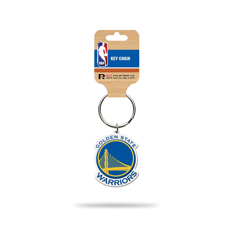 Rico Industries NBA Golden State Warriors Flexible Team Logo Keychain