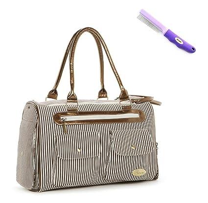 GOLLYKING - Transportín para mascota, tipo bolso de mano, tela, elegante: Amazon.es: Productos para mascotas