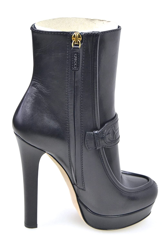 Gucci DONNA STIVALE TRONCHETTO ALLA CAVIGLIA INVERNALE PELLE 296336 BLM00  1000  Amazon.it  Scarpe e borse 730903c7dfa1