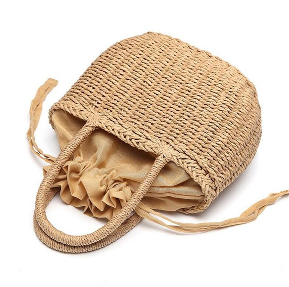 Bohemian Sommer Stroh handgefertigte Strandtasche Rattan