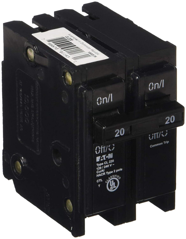 EATON GIDDS-606006 Cl Series 2 Pole Classified Breaker 20 Amps-606006