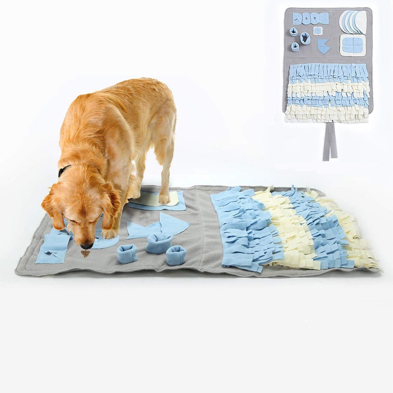 YAMI Snuffle Mat para Perros Alfombrilla de Entrenamiento para Perros Hecha a Mano Alfombra de Juego Mat Nosework Blanket alienta Las Habilidades Naturales de forrajeo (100 * 60 cm)
