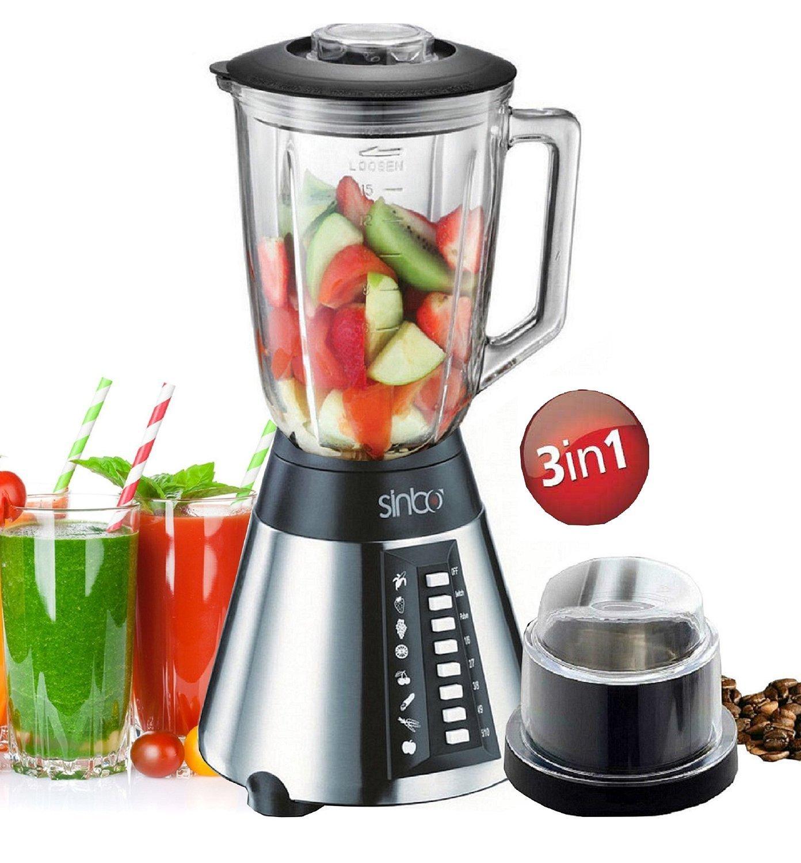 Mixer & zerkleinerer  Amazon.de: Standmixer Glas Edelstahl 700 Watt Smoothie Maker Ice ...