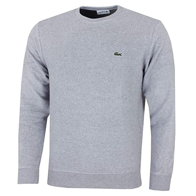 Lacoste Neck Cotton And Crew Terry Mens Cashmere SweatshirtAmazon E2WHD9eYIb
