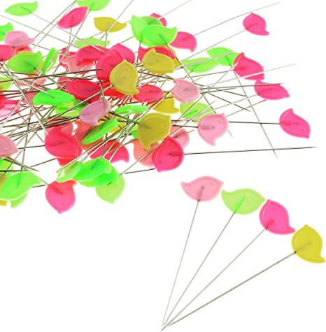 200Pcs Quilting Pins with A Clear Cases Quilting Pins for Flat Head Decorative Long Straight Pins//Flower Head Pins//Colored Flat Button Pins Sewing DIY Projects Dressmaker Jewelry Decoration