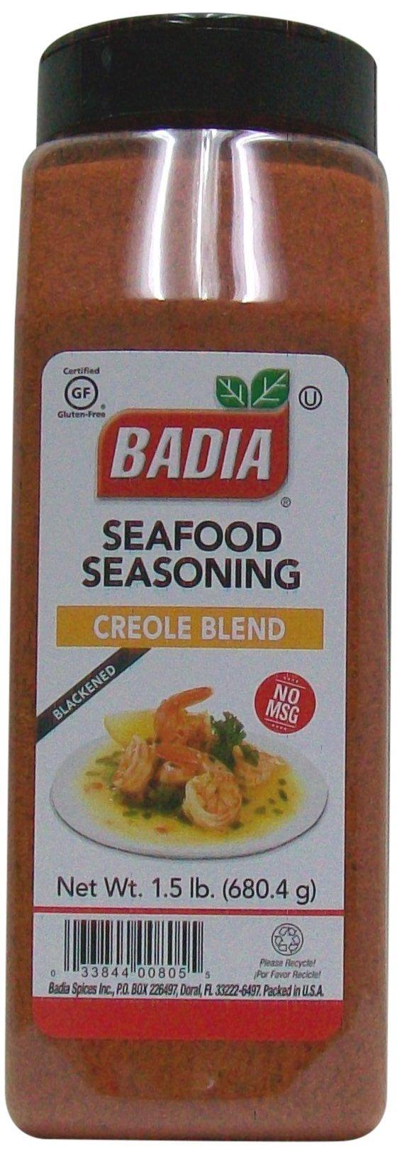 Badia Seafood Seasoning Creole Blend(Blackened),1.5 Pound (Pack of 6) by Badia
