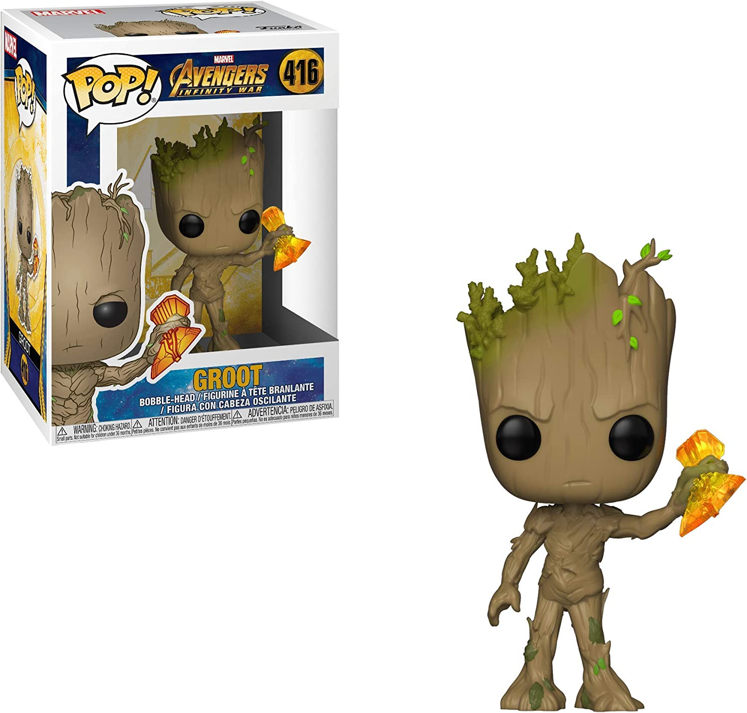 Funko Pop Marvel Avengers Infinity War Groot With Stormbreaker Collectible Figure Multicolor Figures Amazon Canada
