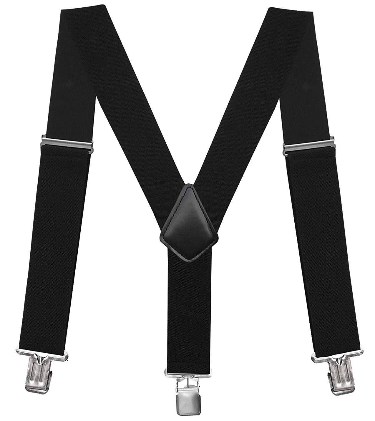eeb6cf4299e EXCELLENT MATERIAL - Our mens suspenders has a high quality belt with great  elasticity and clips are made of high quality strong metal with teeth.