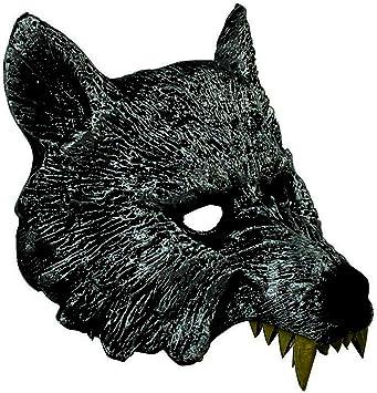 Gris M/áscara de Cabeza de Lobo Feroz de Halloween Serie Horrible Fiesta de Baile de m/áscaras Accesorios Elegantes para recreaci/ón Festival Decoraci/ón