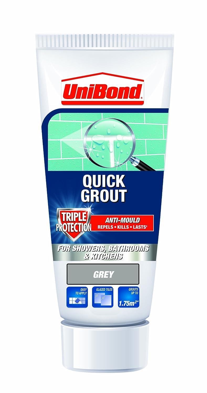 UniBond Triple Protect Anti-Mould Wall Tile Grout Tube - Grey Henkel 328134-STX