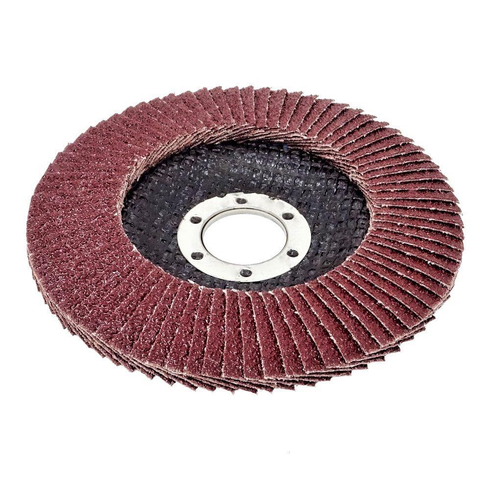Lot de 10/compartiments Disques 125/mm Grain 80//à lamelles Marron pon/çage Mop Assiettes Disque abrasif /à lamelles