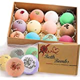 Bath Bombs Gift Set, JRINTL 12 made Fizzies, Shea & Coco Butter Dry Skin Moisturize, Perfect for Bubble & Spa Bath. Handmade Birthday Mothers day Gifts idea For Her/Him, wife, girlfriend