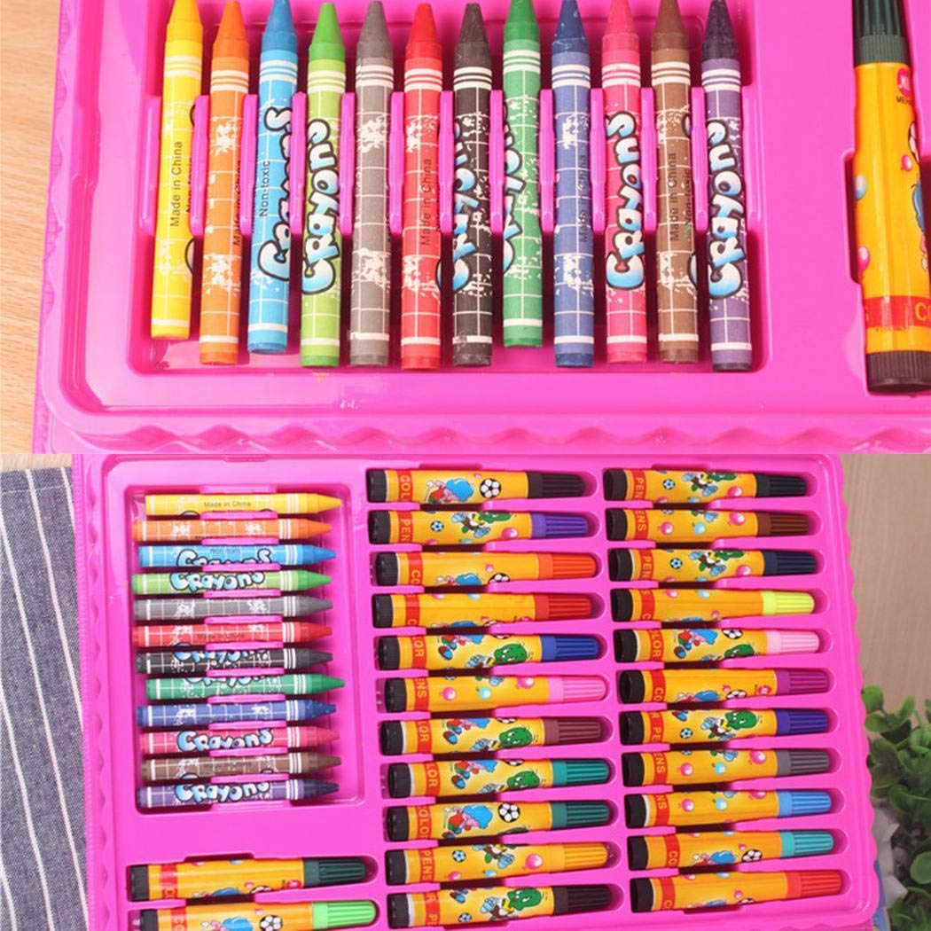 Biuday Edited Kids Drawing Pen Aquarell Buntstifte Set Box Zeichenwerkzeuge Künstlerbed Marker & Filzstifte