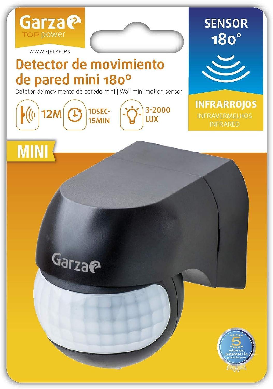 /D/étecteur de Mouvement Infrarouge de Mural ext/érieur Blanc Garza Power/ Angle de d/étection: 180//° Protection iP44/