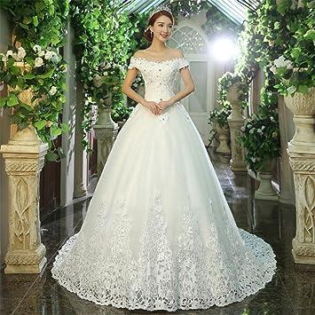 LUCKY-U Vestido De Novia, Elegante Vestido De Novia Novia Capilla Banquete Ball Prom
