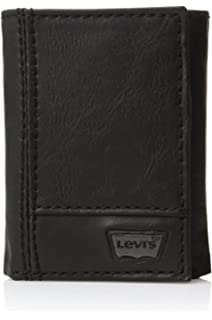 3994ae2783fb Levi s Men s Trifold Wallet - Sleek and Slim Includes ID Window and Credit  Card Holder