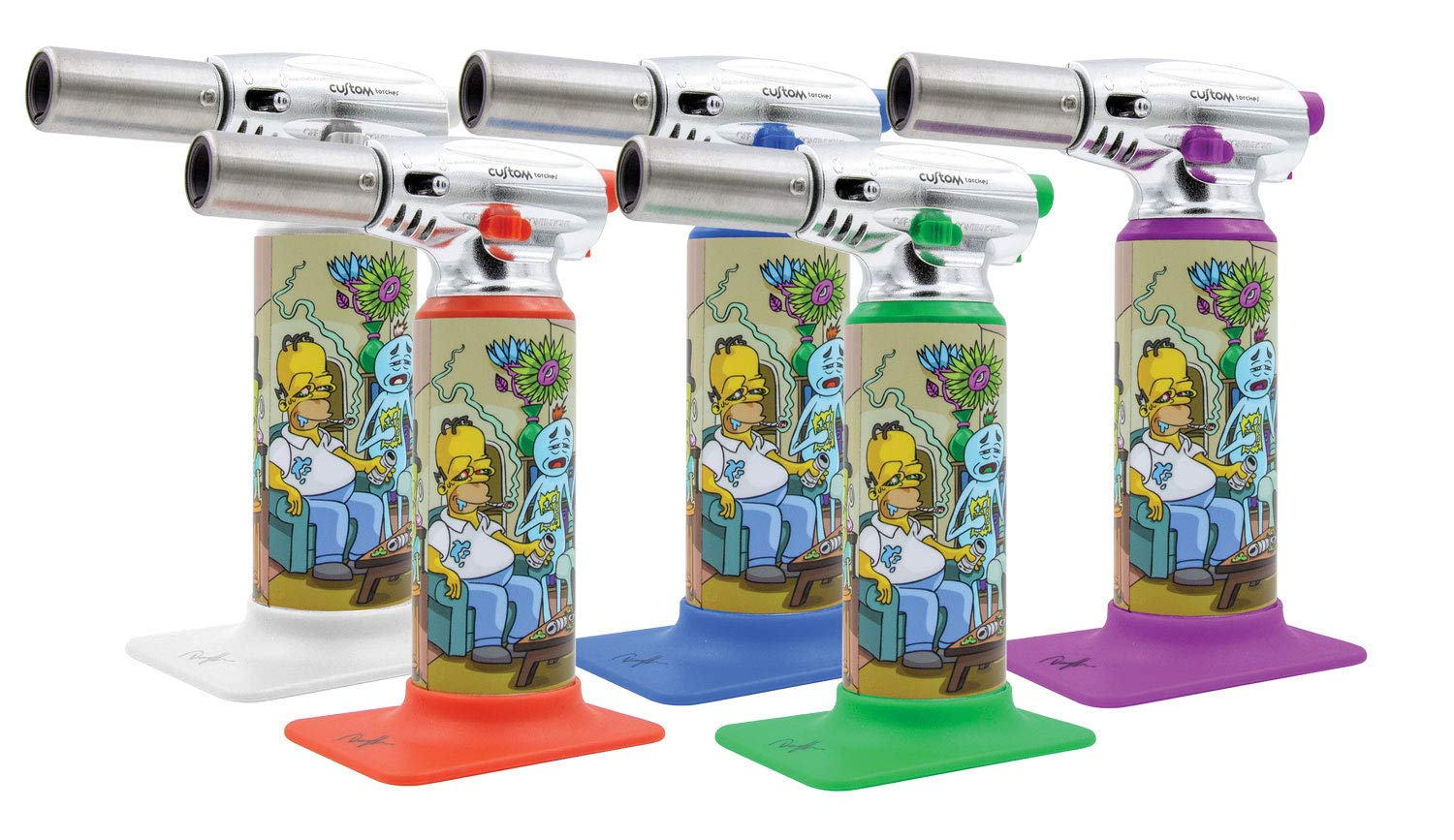 Dunkees Butane Torch Lighter - 7'' / Assorted Colors & Designs (Impossible Task)