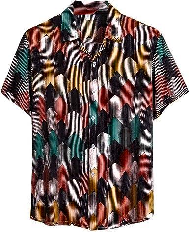 Nueva Camisa Hawaiana para Hombre Primavera y Verano Moda ...