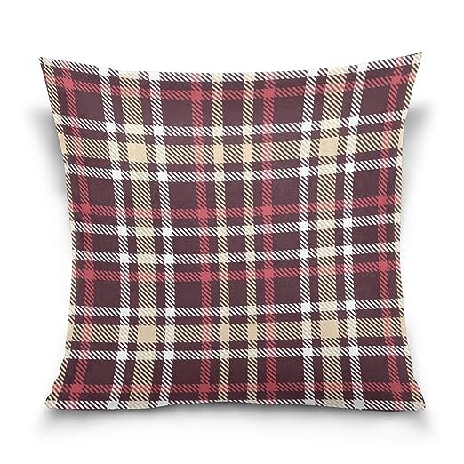 Fundas de almohada cuadradas de algodón suave de 16 x 16 ...