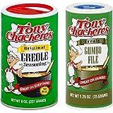 Tony Chachere's No MSG Cajun Creole Seasoning Bundle - 1 each of Tony's Original Creole Seasoning 8 Ounces and Gumbo File 1.2