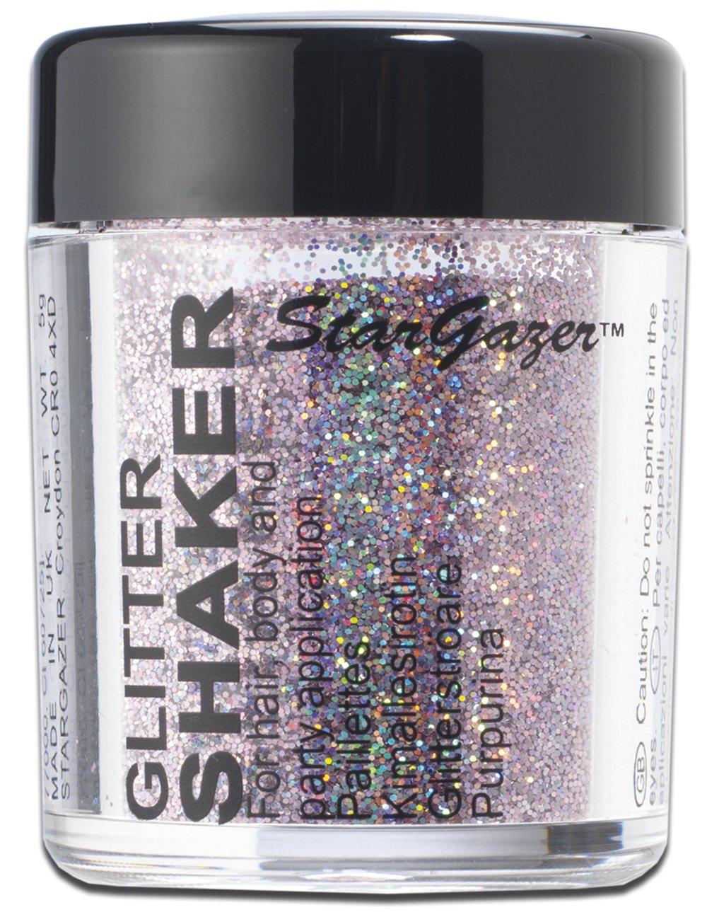 Stargazer Starlight Loose Glitter Shaker for Hair & Body-Rocket Silver 5036469041570