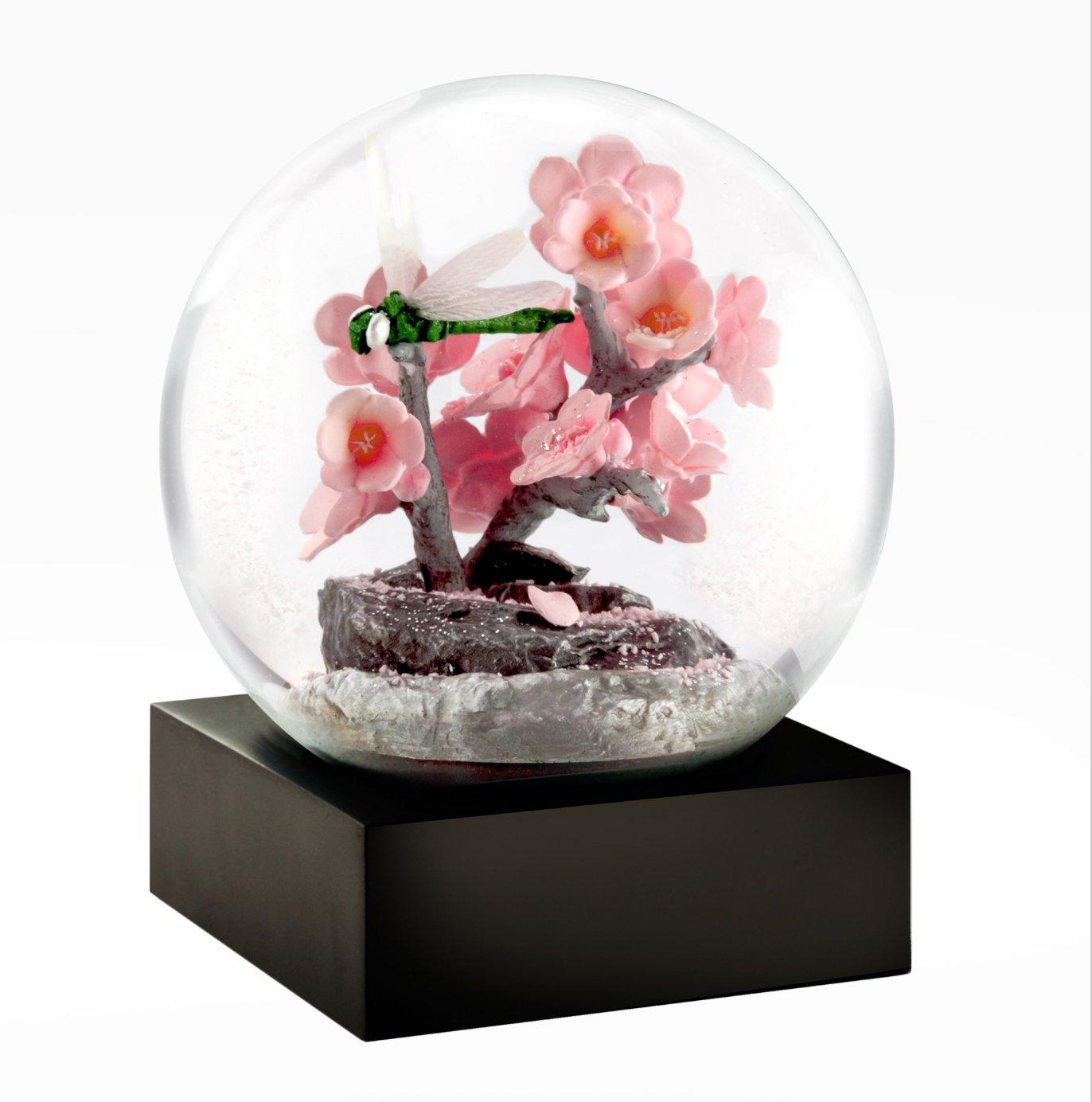 Dragonfly Snow Globe - Floral snow globe