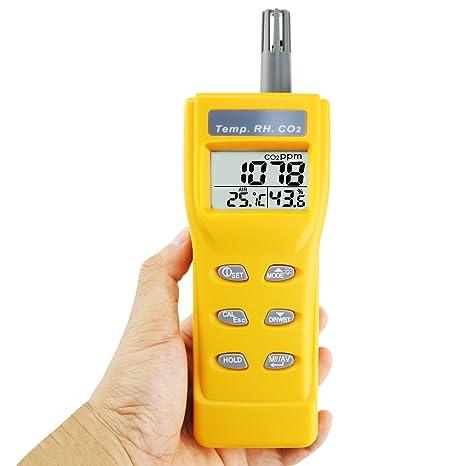 Contenido Pantalla a Color analizador de Calidad de Aire con Pantalla de Humedad de Temperatura MAQRLT Detector de CO2 de di/óxido de Carbono probador de Aire Inteligente TFT concentraci/ón de Gas
