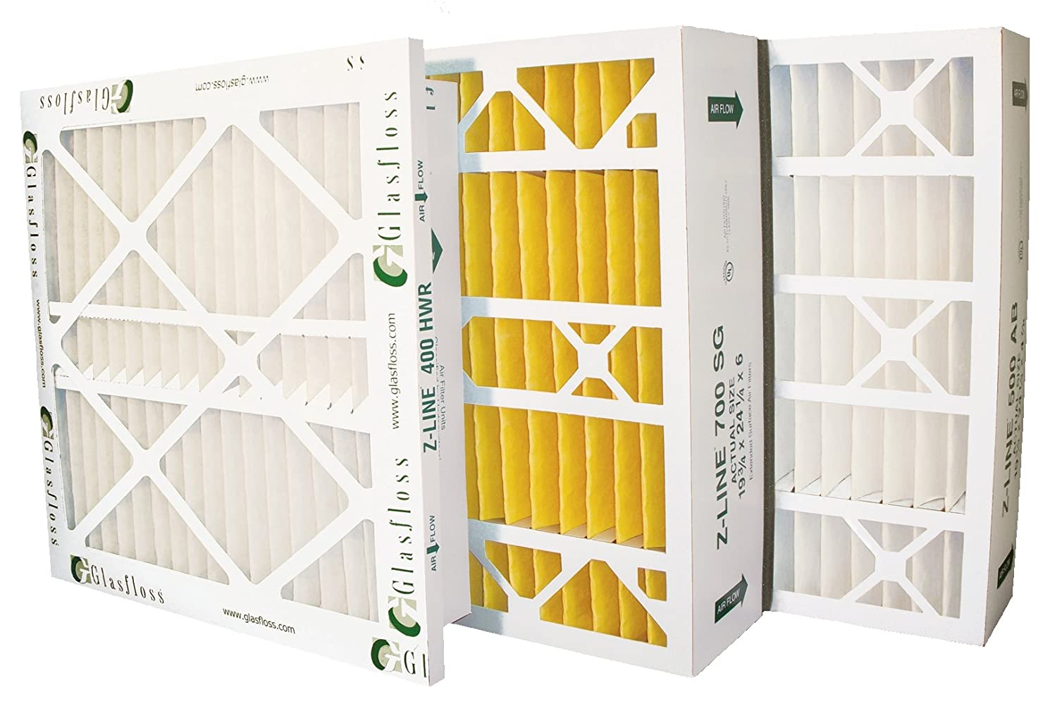 Glasfloss Industries HWR243042PK Z-Line Series 400 HWR MERV 10 Air Cleaner Replacement Filter Option 2-Case