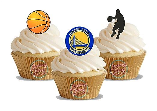 Amazon.com: 12 x baloncesto dorado STATE WARRIORS Mix ...