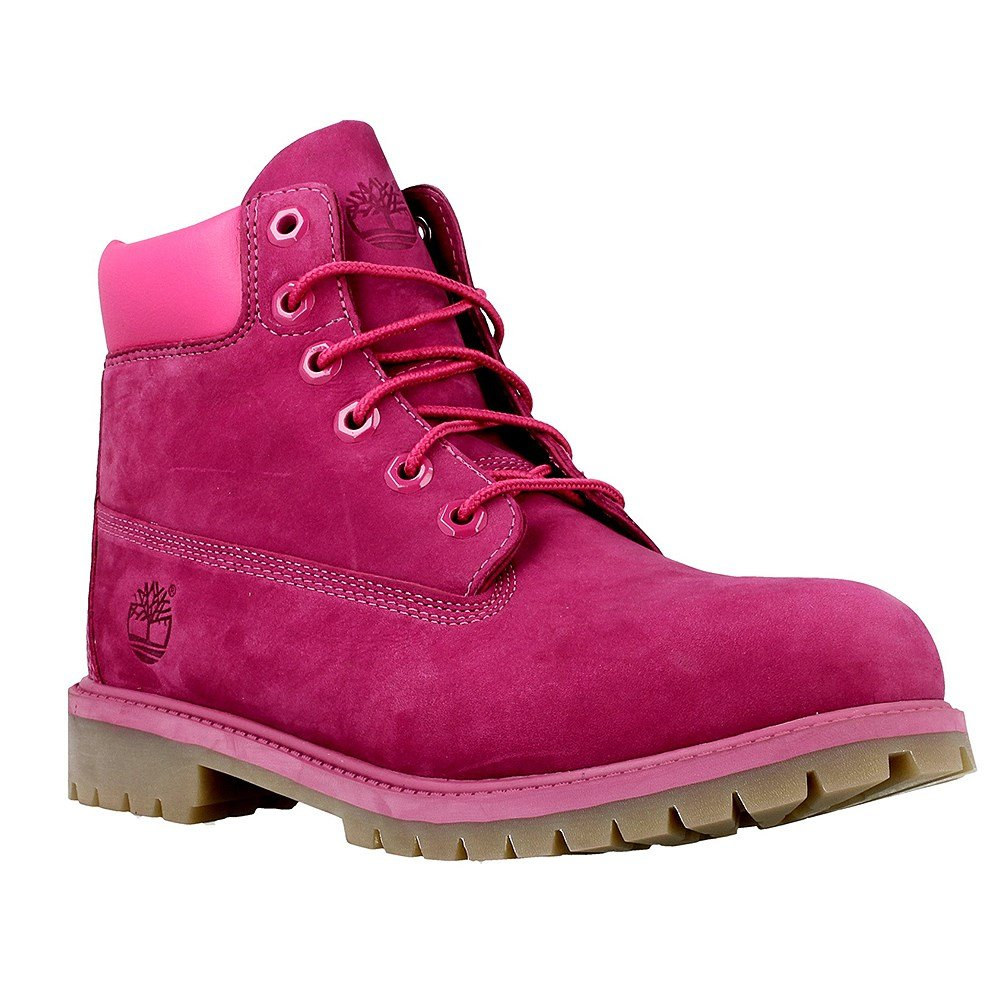 Timberland Kid's 6-Inch Premium Waterproof Boot, Pink, 6.5 M US Big Kid by Timberland