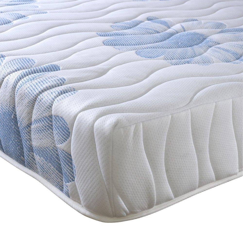 Happy Beds 4000Orthopädisches Pocket Federkernmatratze aus Memory-Schaumstoff, Weiß, verschiedene Größen, Weiß, 180 x 200 cm